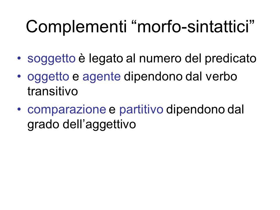 Complementi morfo-sintattici