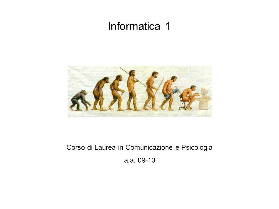 Corso di Laurea in Comunicazione e Psicologia