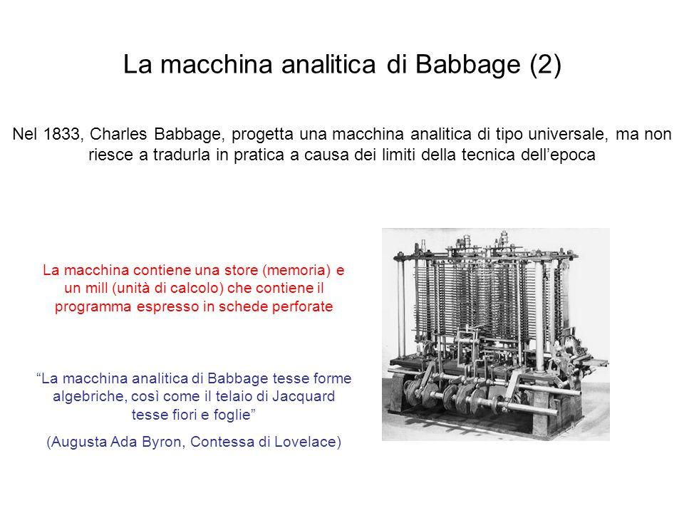 La macchina analitica di Babbage (2)