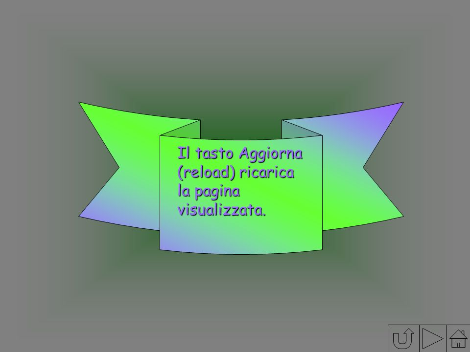 Il tasto Aggiorna (reload) ricarica la pagina visualizzata.
