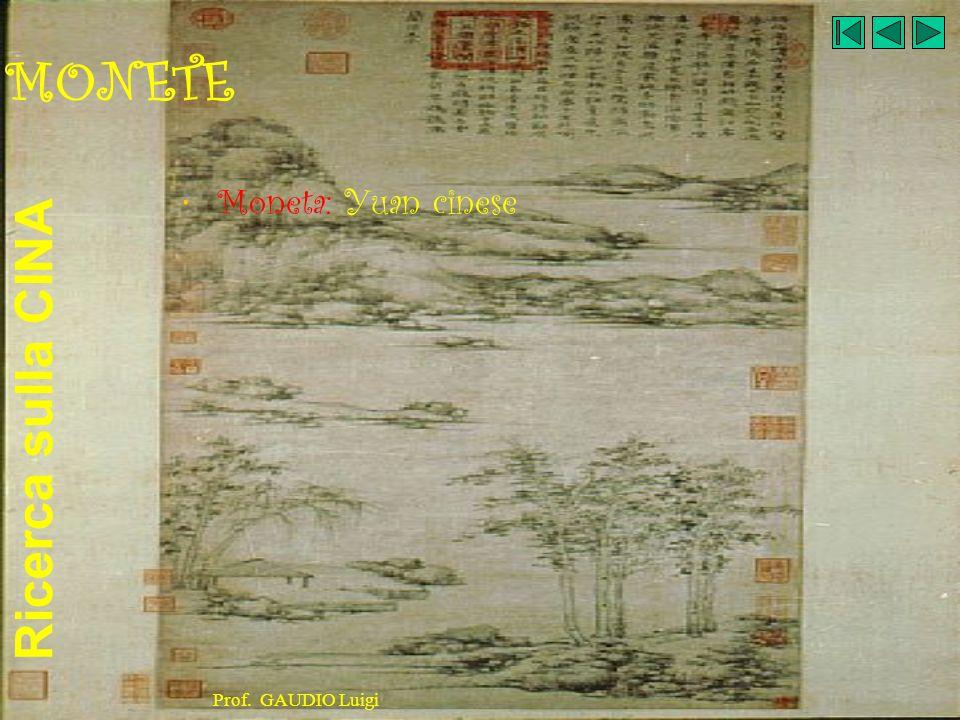 MONETE Moneta: Yuan cinese Prof. GAUDIO Luigi