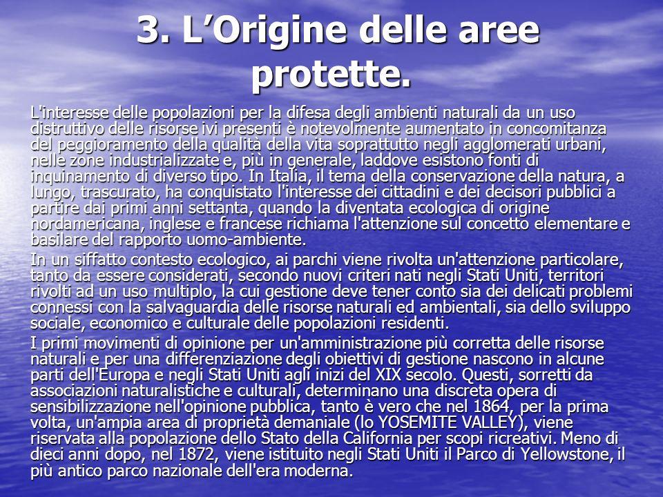 3. L'Origine delle aree protette.