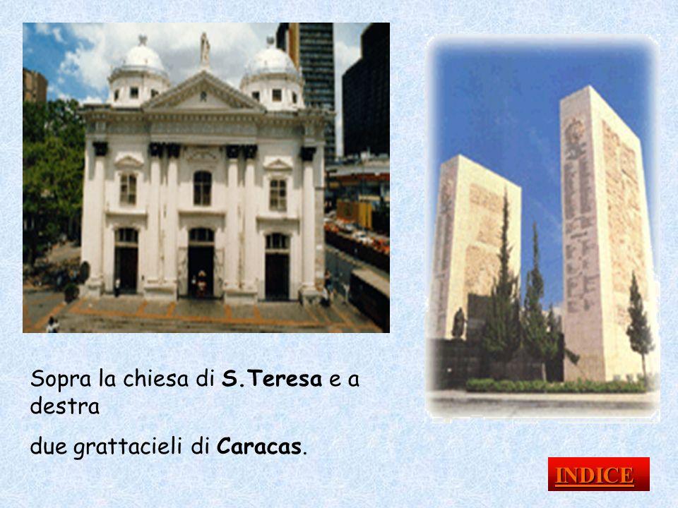 Sopra la chiesa di S.Teresa e a destra