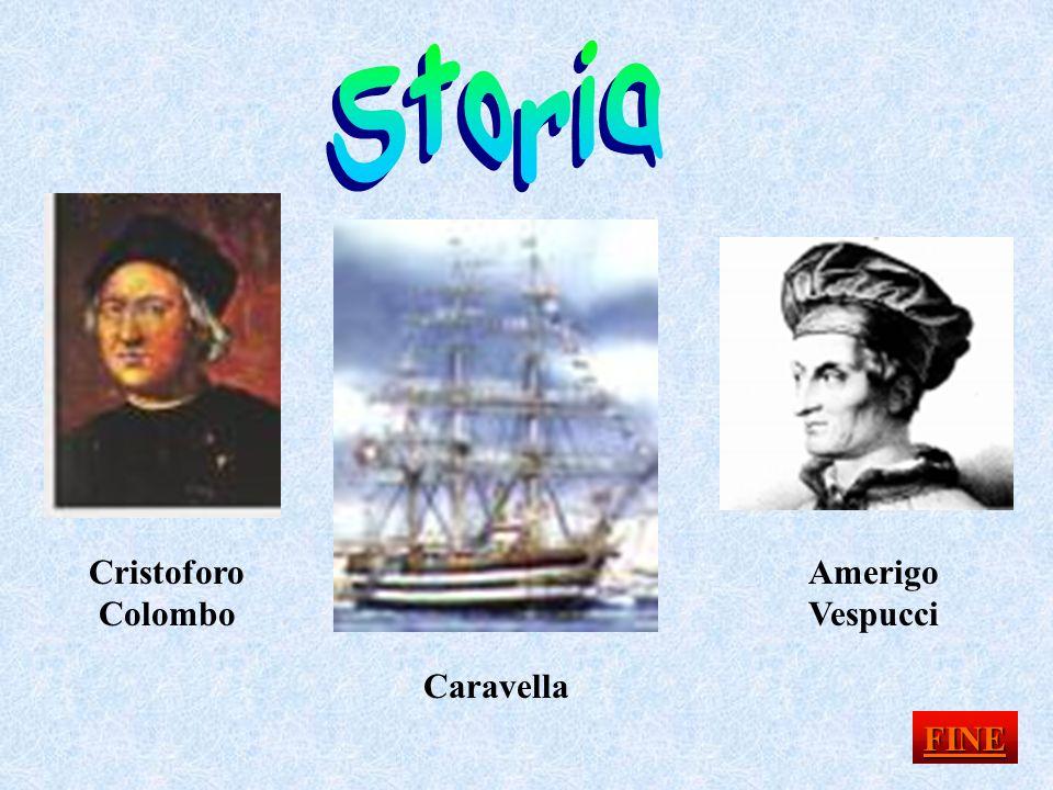 Storia Cristoforo Colombo Amerigo Vespucci Caravella FINE
