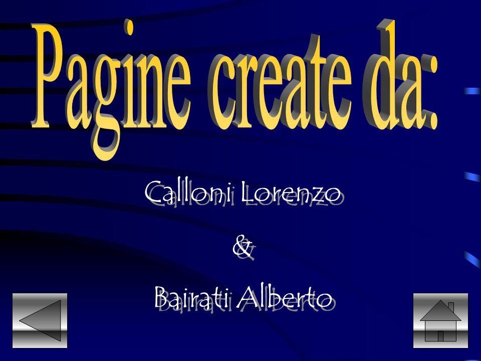 Pagine create da: Calloni Lorenzo & Bairati Alberto