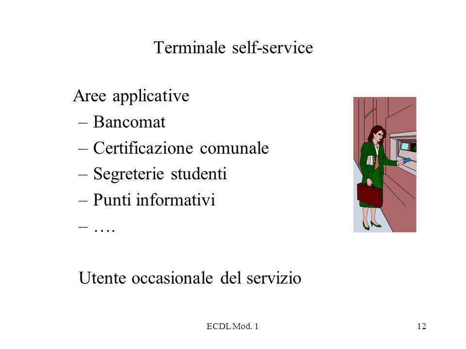 Terminale self-service