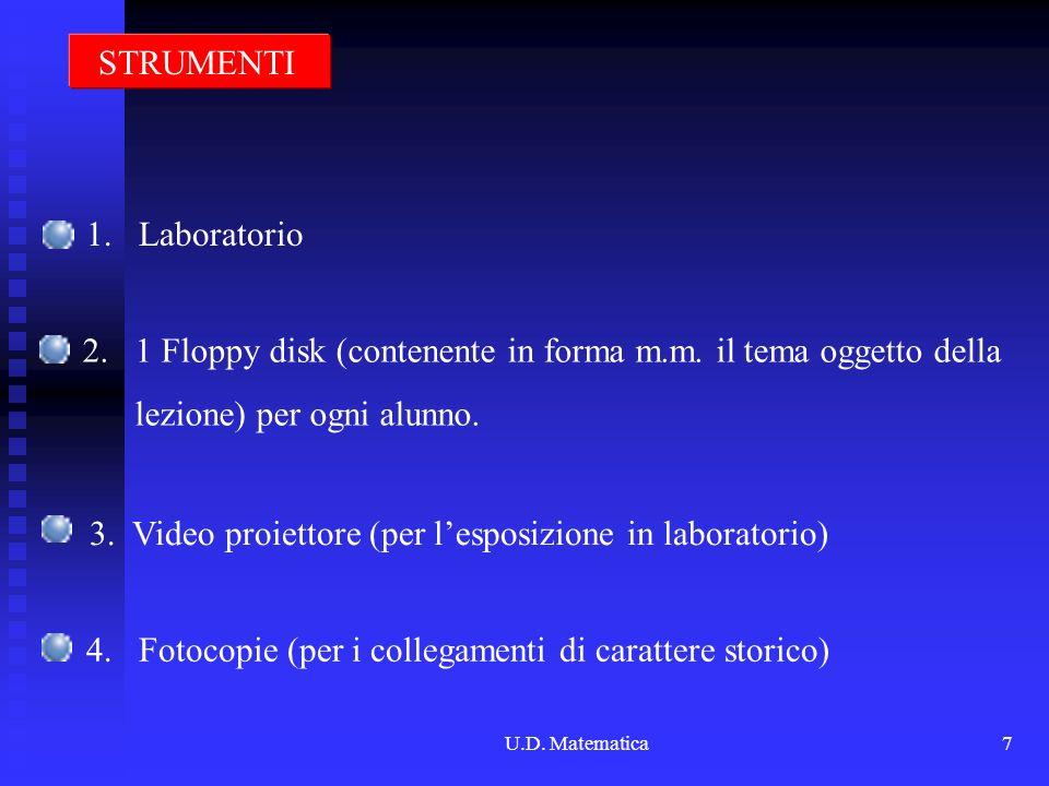 1 Floppy disk (contenente in forma m.m. il tema oggetto della