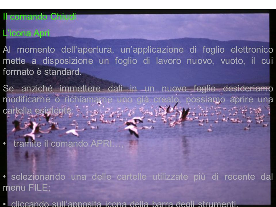 Il comando Chiudi L'icona Apri.