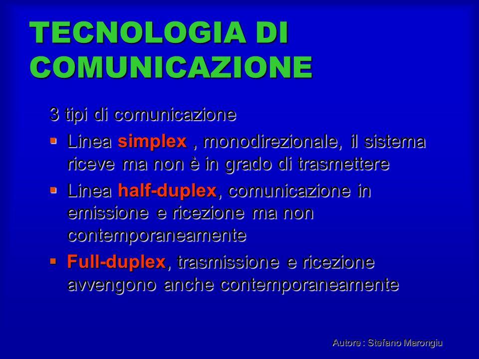 TECNOLOGIA DI COMUNICAZIONE