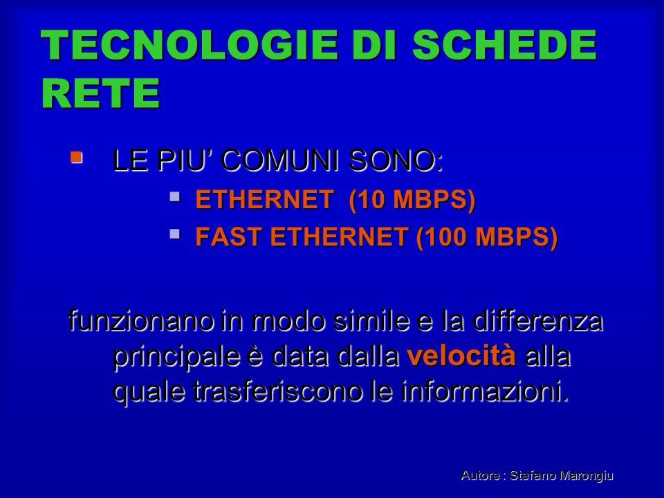TECNOLOGIE DI SCHEDE RETE