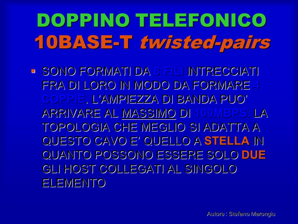 DOPPINO TELEFONICO 10BASE-T twisted-pairs