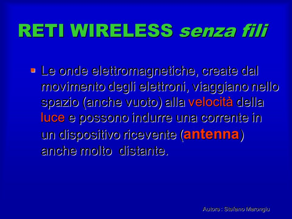 RETI WIRELESS senza fili