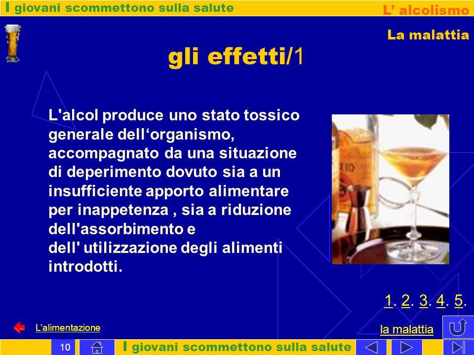L alcolismo La malattia. gli effetti/1.