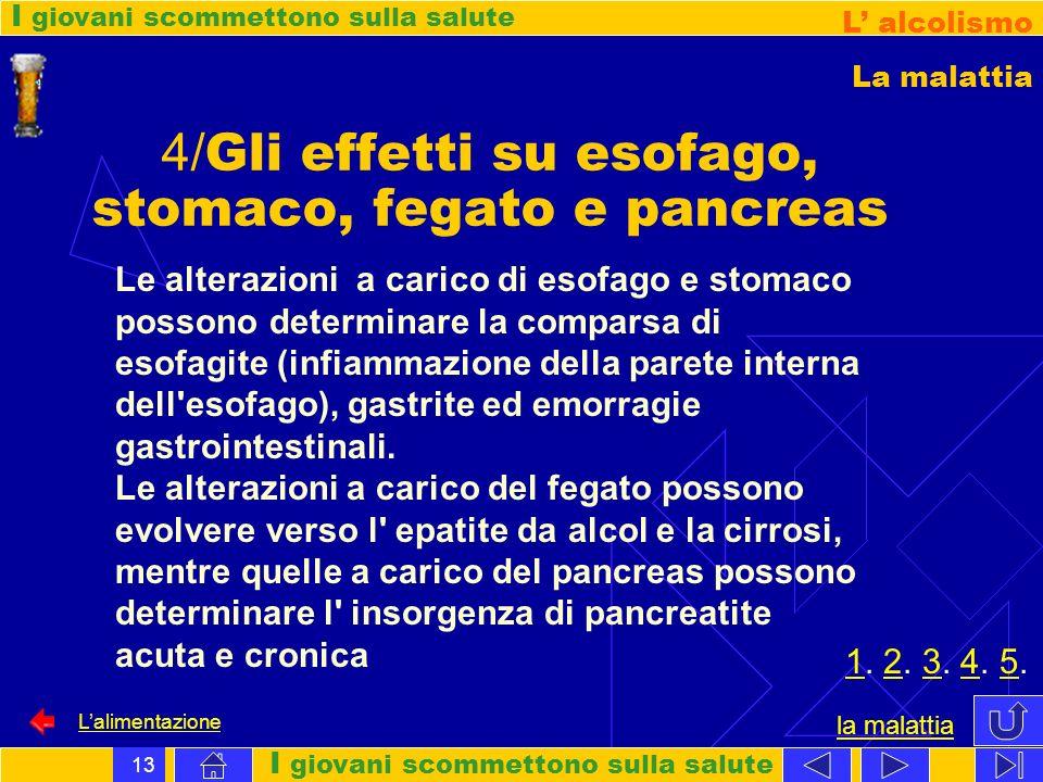 4/Gli effetti su esofago, stomaco, fegato e pancreas