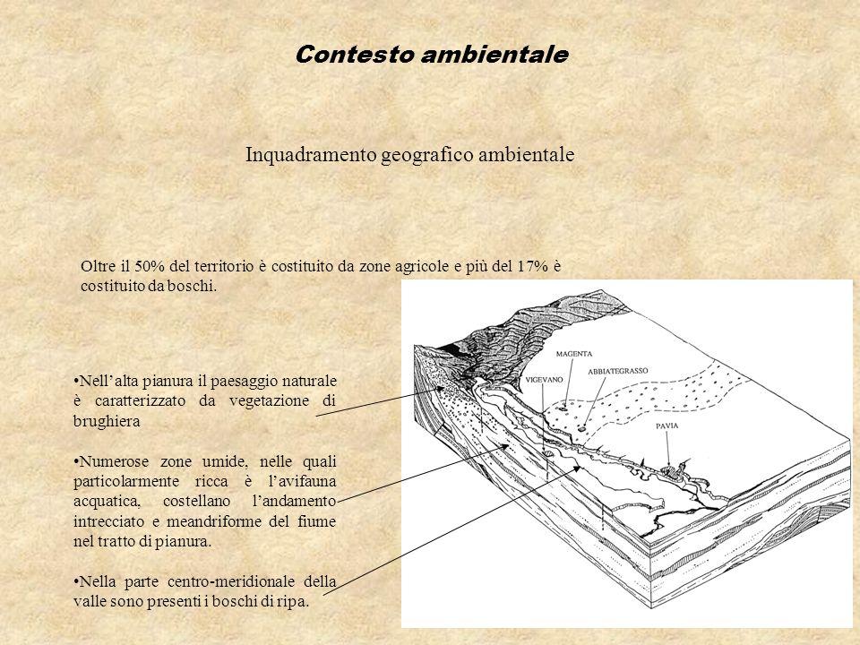 Contesto ambientale Inquadramento geografico ambientale