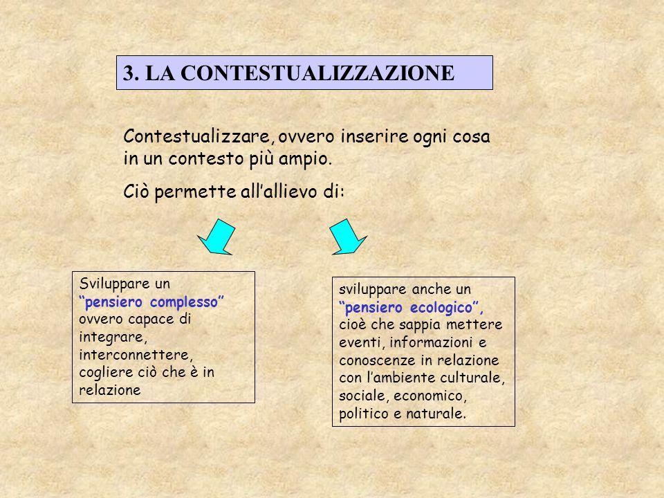 3. LA CONTESTUALIZZAZIONE