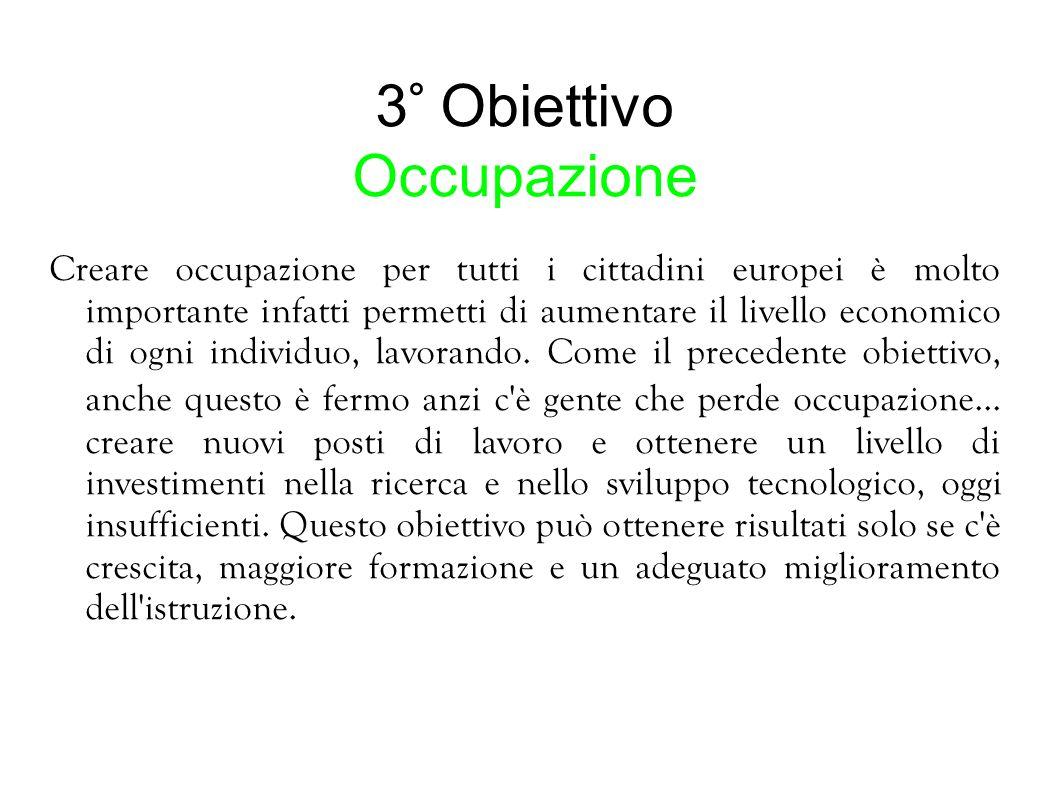3° Obiettivo Occupazione