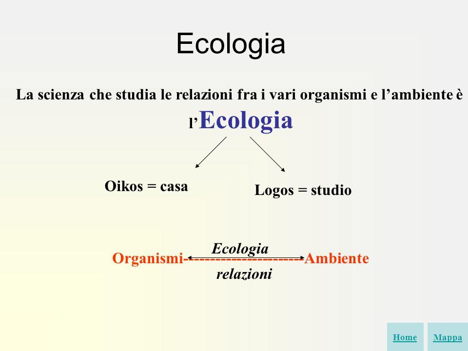 Organismi-----------------------Ambiente