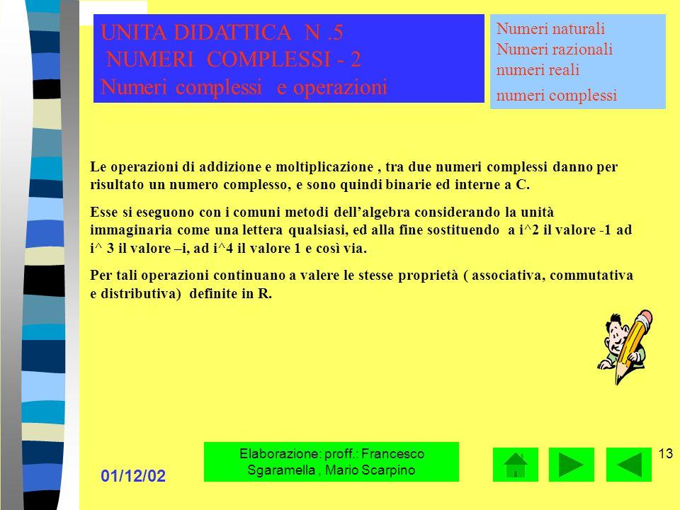 Elaborazione: proff.: Francesco Sgaramella , Mario Scarpino