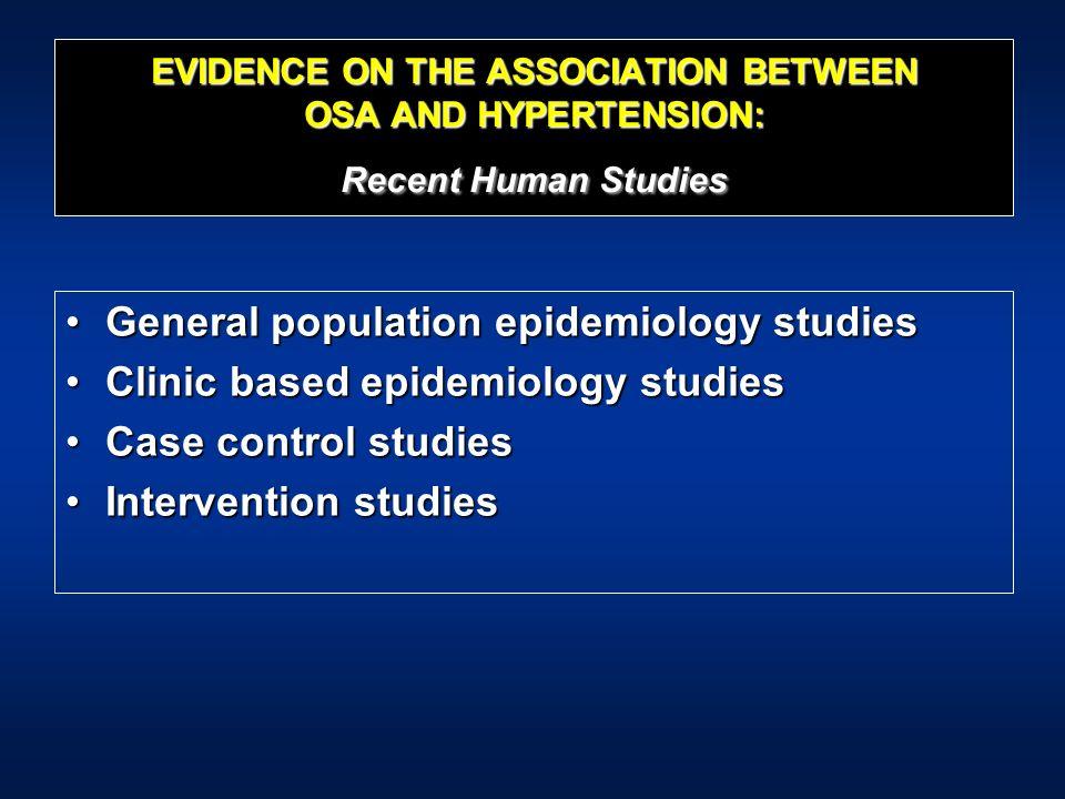 General population epidemiology studies