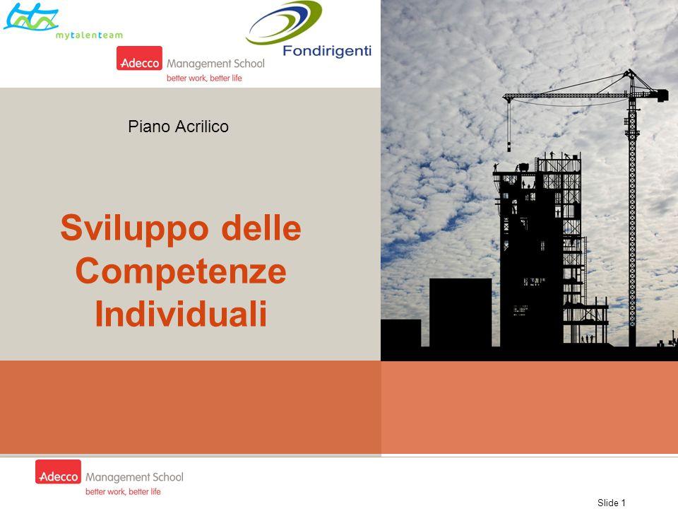 Sviluppo delle Competenze Individuali