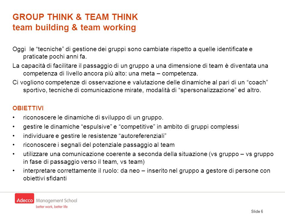 GROUP THINK & TEAM THINK team building & team working