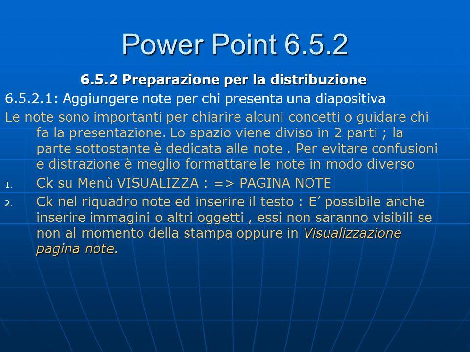 6.5.2 Preparazione per la distribuzione