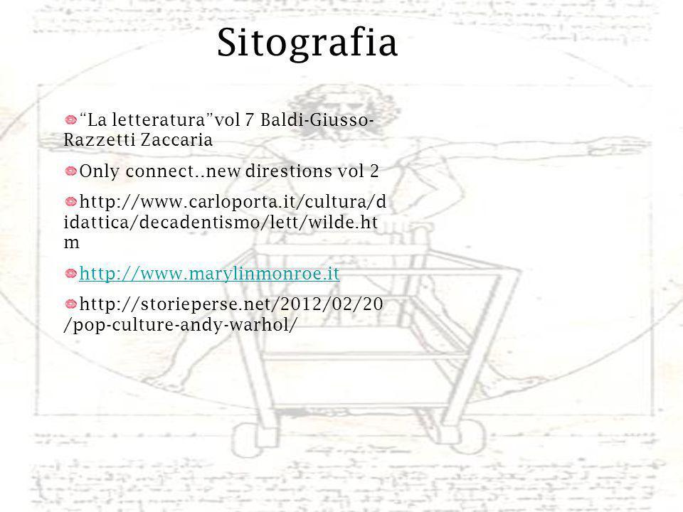 Sitografia La letteratura vol 7 Baldi-Giusso-Razzetti Zaccaria