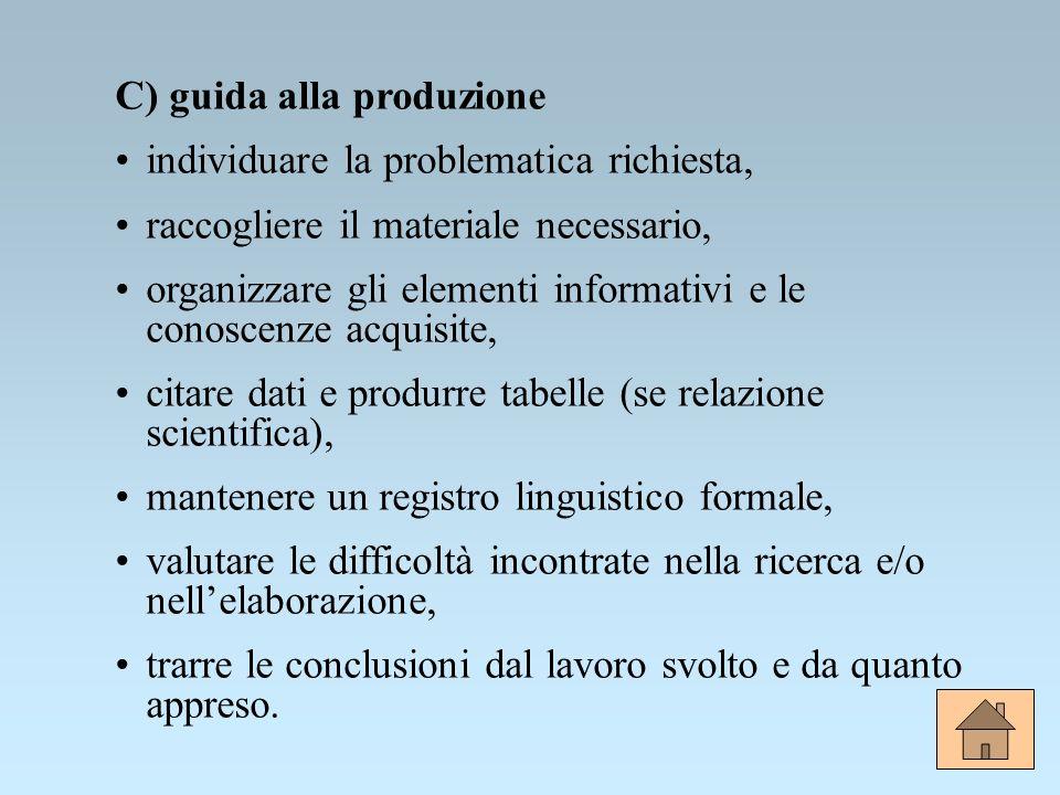 C) guida alla produzione