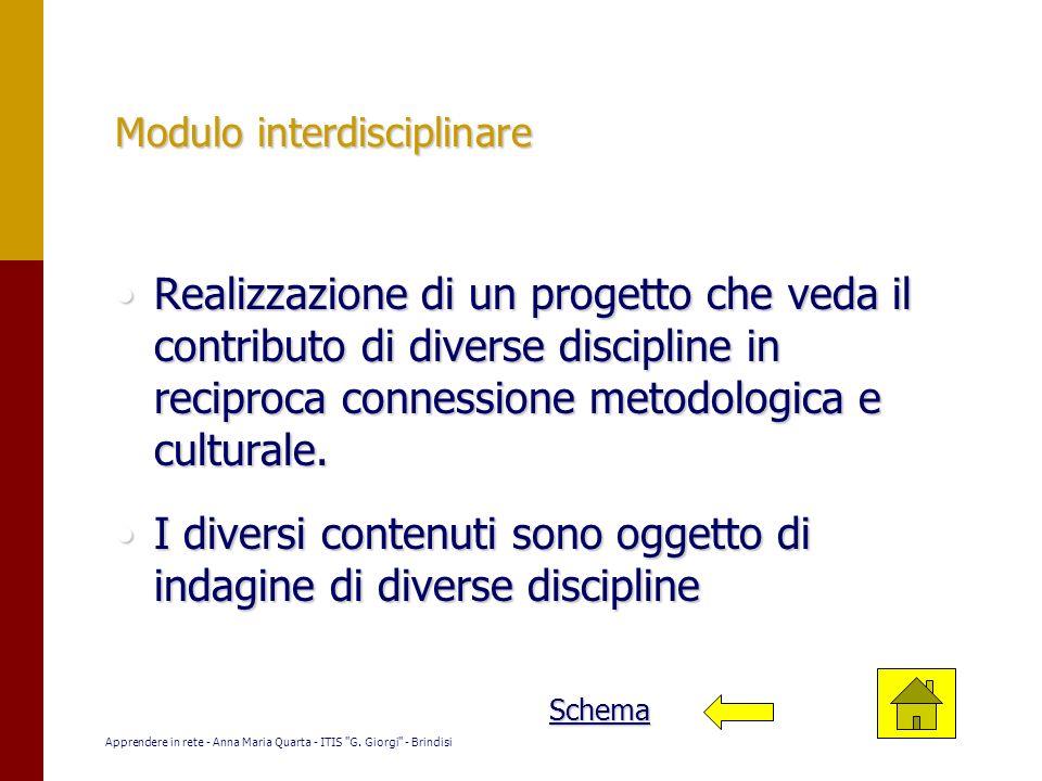 Modulo interdisciplinare