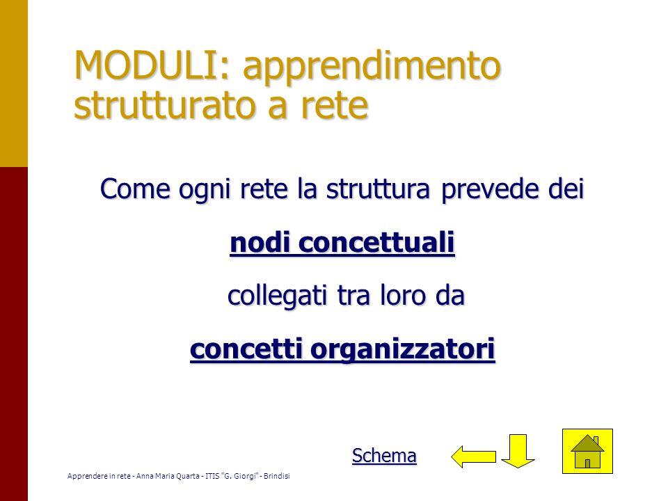 MODULI: apprendimento strutturato a rete