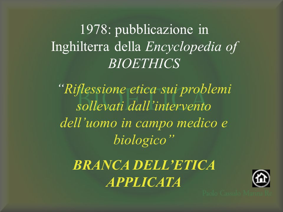 BRANCA DELL'ETICA APPLICATA