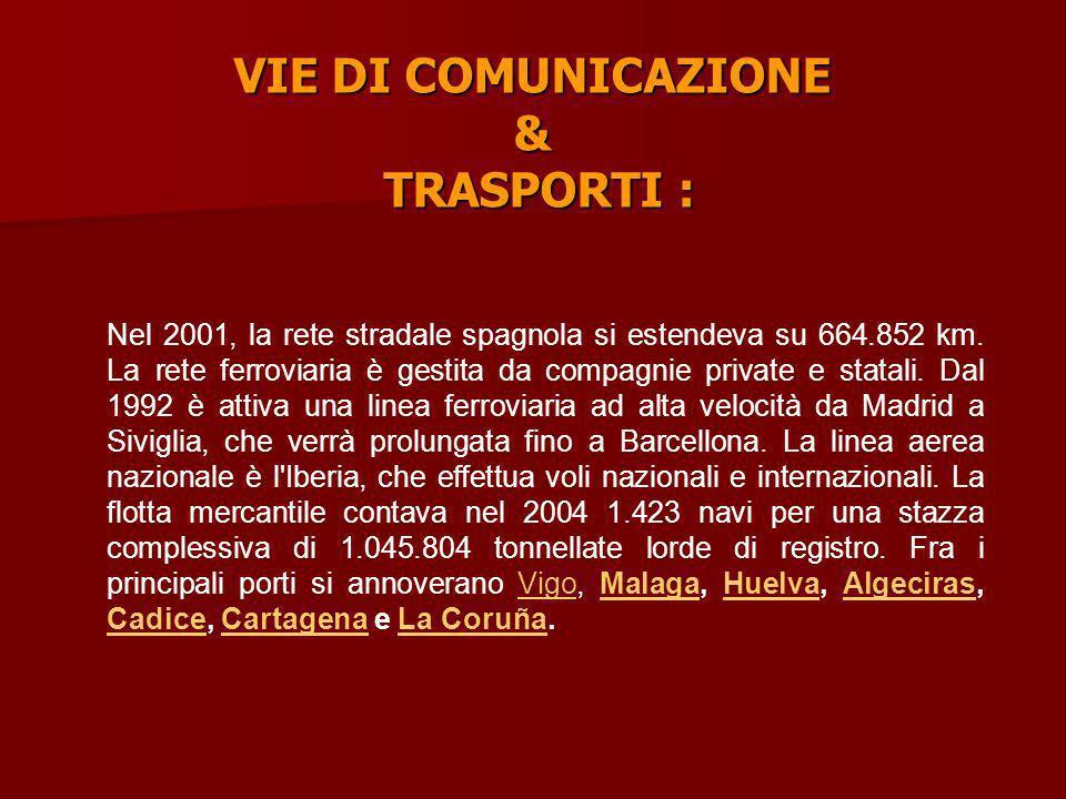 VIE DI COMUNICAZIONE & TRASPORTI :
