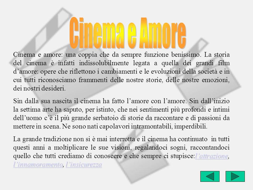Cinema e Amore