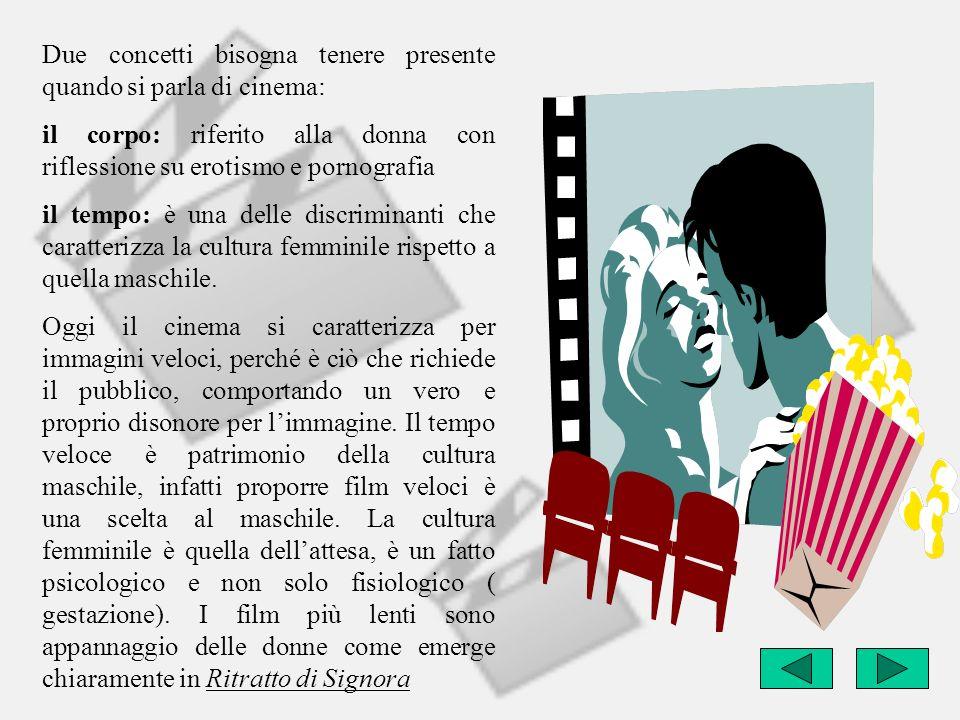 Due concetti bisogna tenere presente quando si parla di cinema: