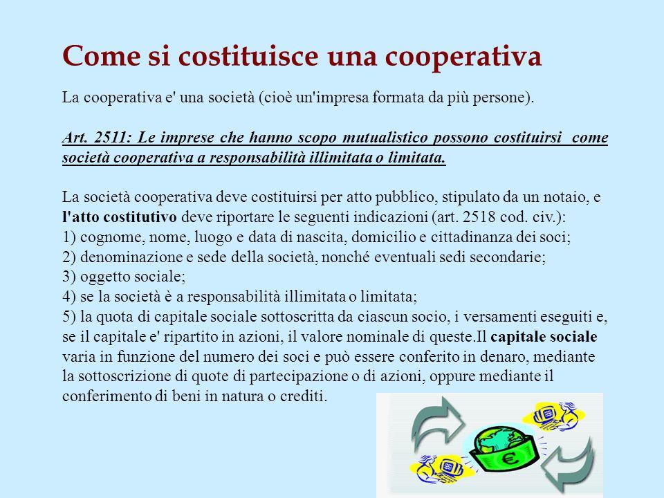 Come si costituisce una cooperativa