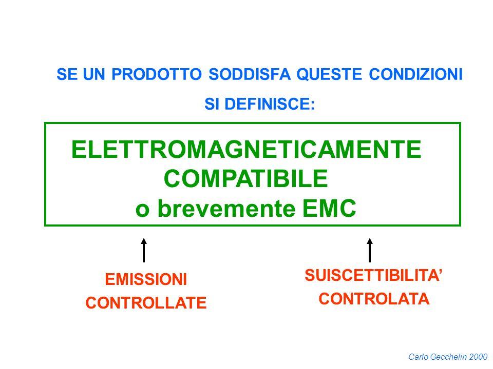 SE UN PRODOTTO SODDISFA QUESTE CONDIZIONI ELETTROMAGNETICAMENTE