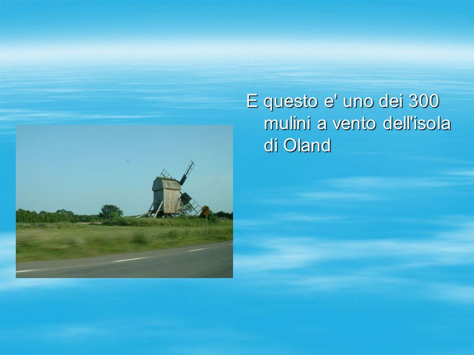 E questo e uno dei 300 mulini a vento dell isola di Oland