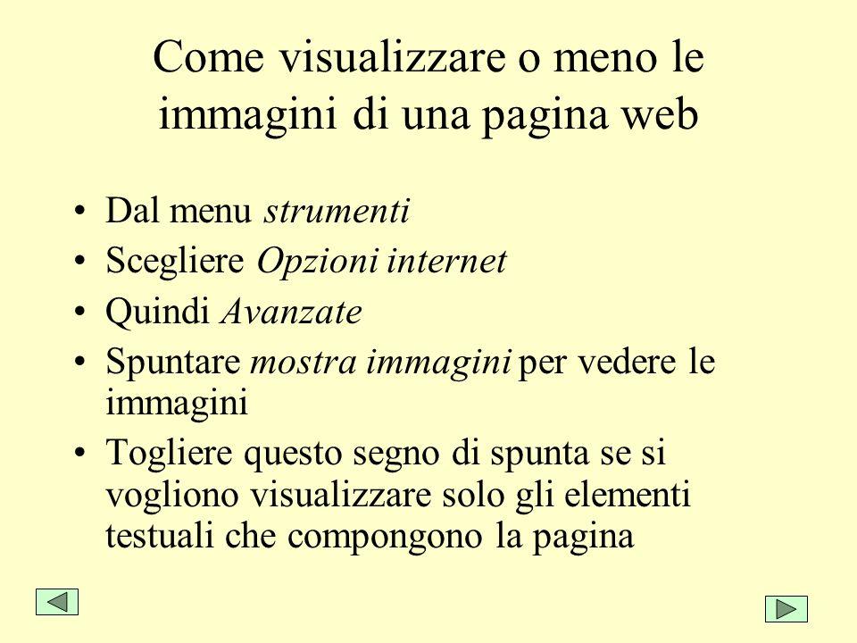 Come visualizzare o meno le immagini di una pagina web