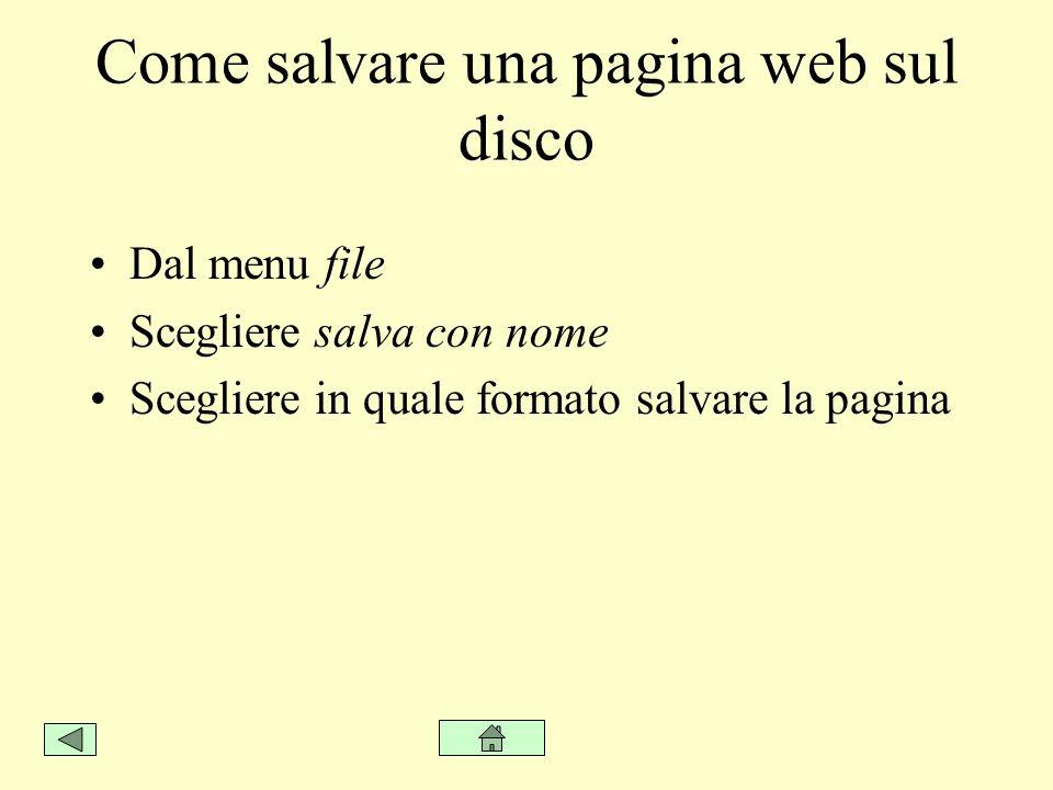 Come salvare una pagina web sul disco