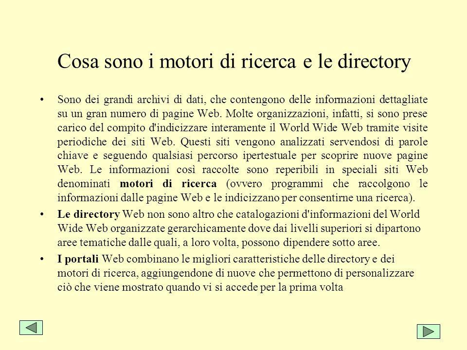 Cosa sono i motori di ricerca e le directory
