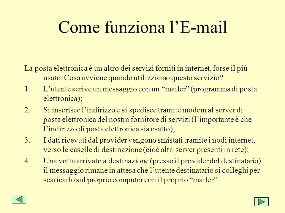 Come funziona l'E-mail