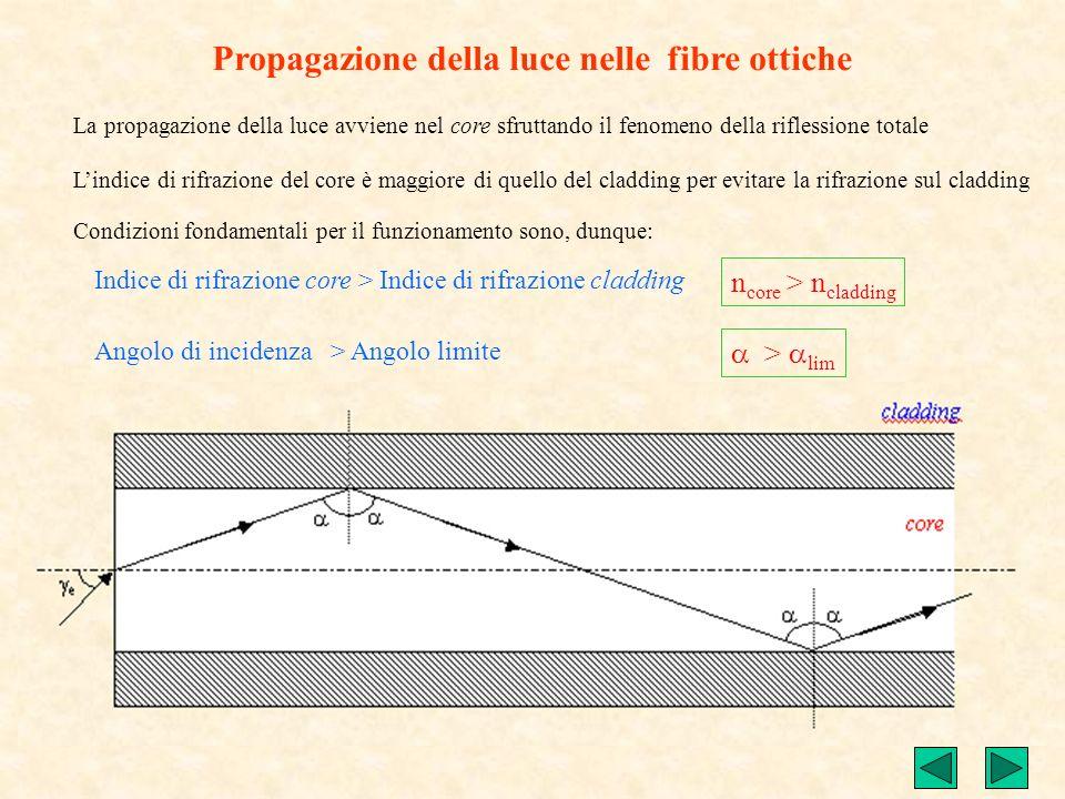 Propagazione della luce nelle fibre ottiche