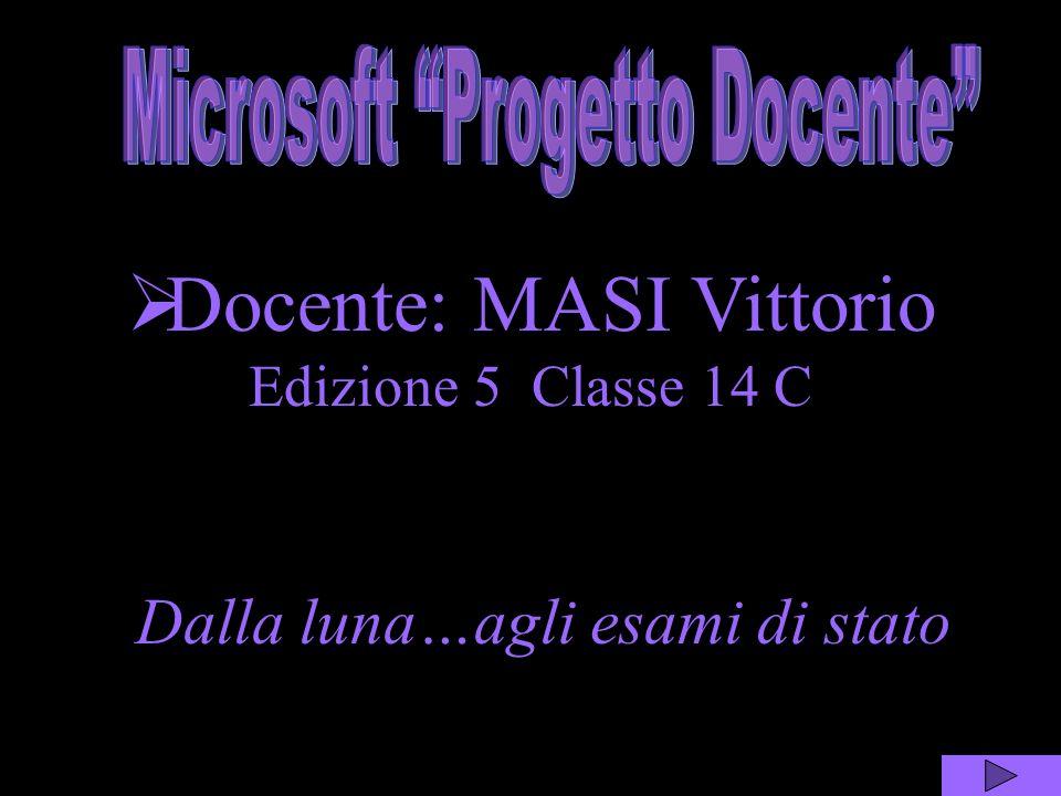 Docente: MASI Vittorio Edizione 5 Classe 14 C