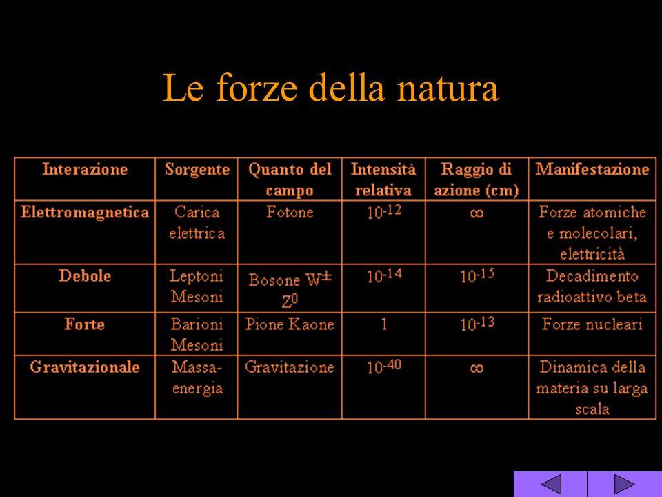 Le forze della natura