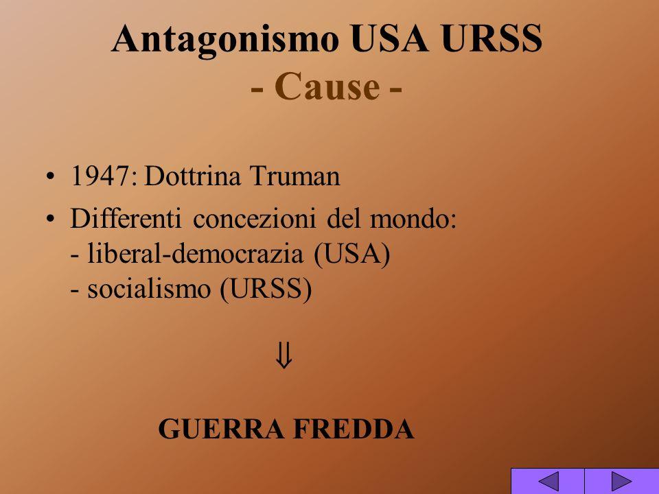 Antagonismo USA URSS - Cause -