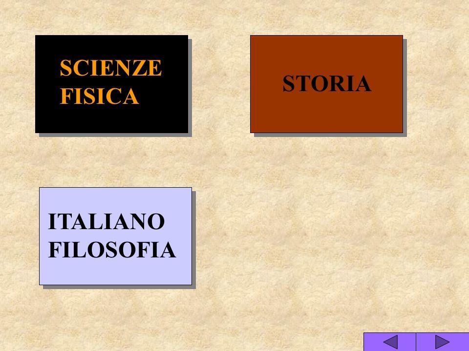 STORIA SCIENZE FISICA ITALIANO FILOSOFIA