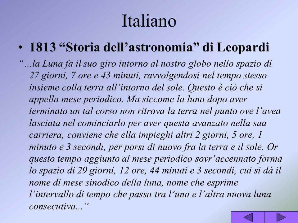 Italiano 1813 Storia dell'astronomia di Leopardi