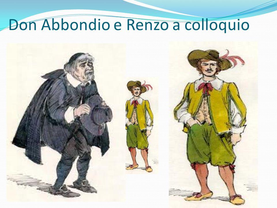Don Abbondio e Renzo a colloquio