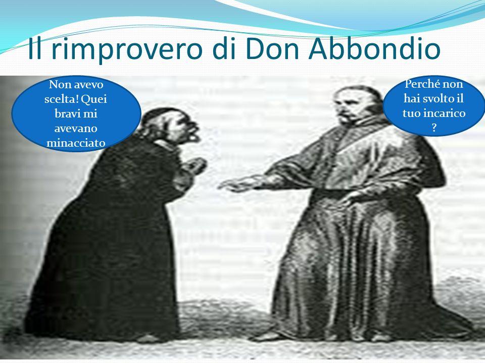 Il rimprovero di Don Abbondio